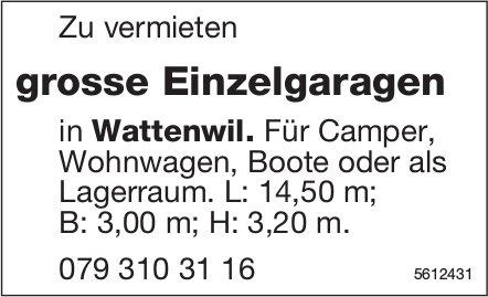 Grosse Einzelgaragen in Wattenwil zu vermieten