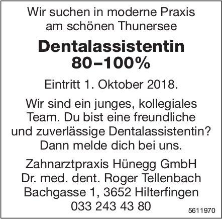 Dentalassistentin 80–100%, Zahnarztpraxis Hünegg GmbH, Hilterfingen, gesucht