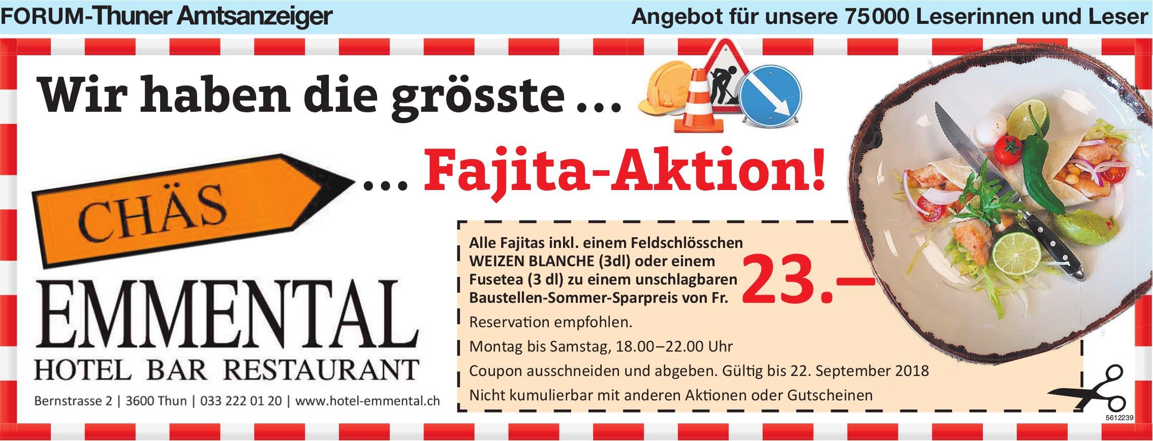 Forum-Thuner Amtsanzeiger - Chäs Emmental: Wir haben die grösste … … Fajita-Aktion!