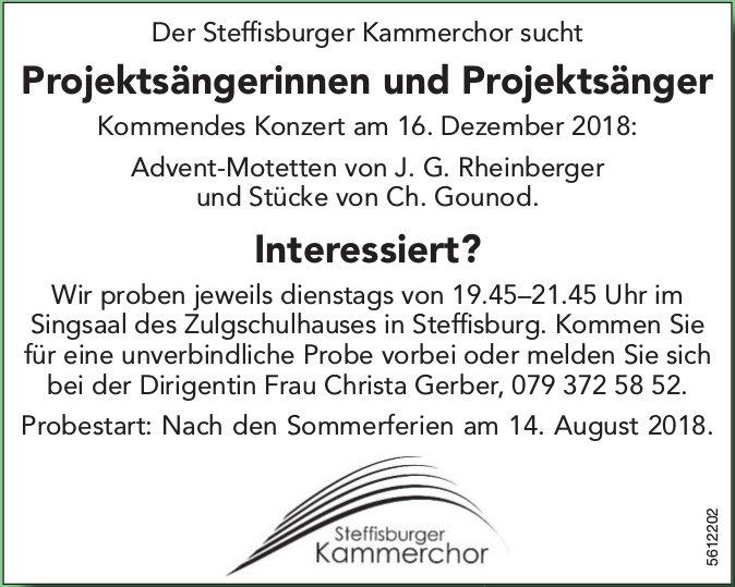 Der Steffisburger Kammerchor sucht Projektsängerinnen und Projektsänger