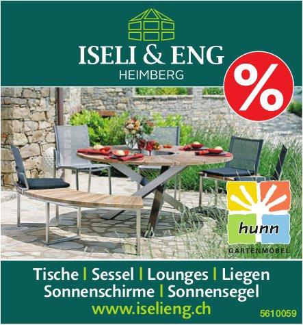 ISELI & ENG, HEIMBERG - Gartenmöbel Sonderverkauf