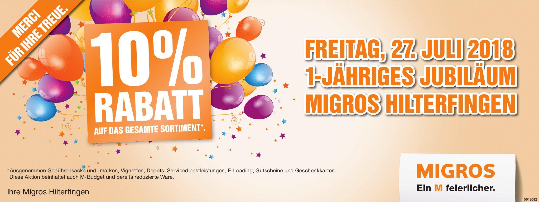 Migros Hilterfingen - 1-jähriges Jubiläum, 27. Juli
