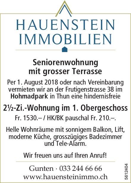 2½-Zi.-Wohnung Seniorenwohnung im 1. OG im Hohmadpark in Thun zu vermieten