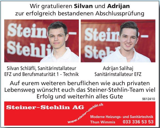 Wir gratulieren Silvan und Adrijan zur erfolgreich bestandenen Abschlussprüfung