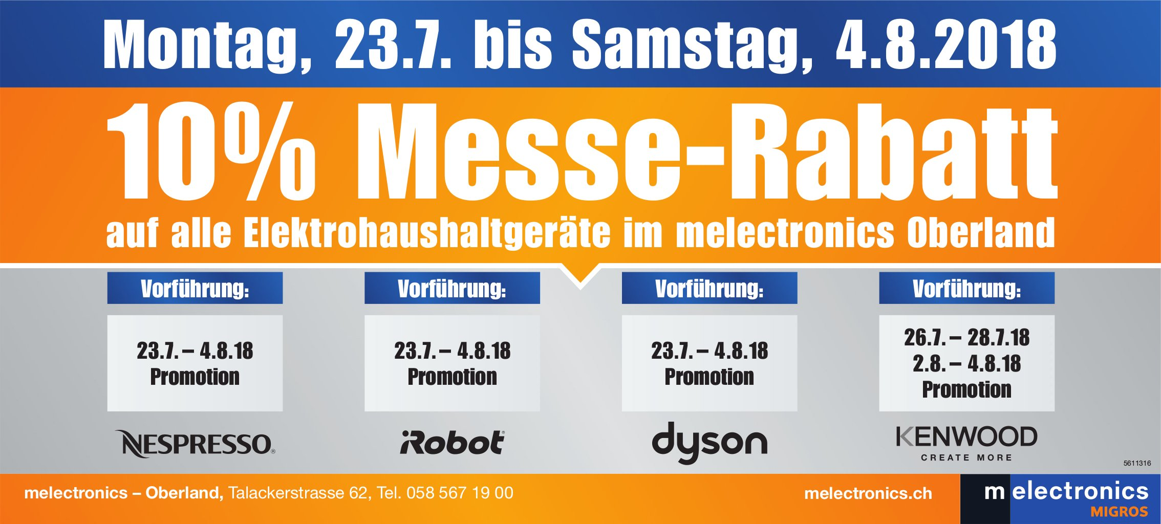 Melectronics - 10% Messe-Rabatt, 23. Juli - 4. August