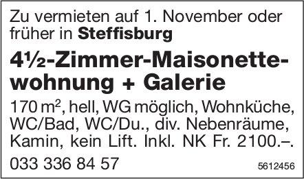 4½-Zimmer-Maisonettewohnung + Galerie in Steffisburg zu vermieten
