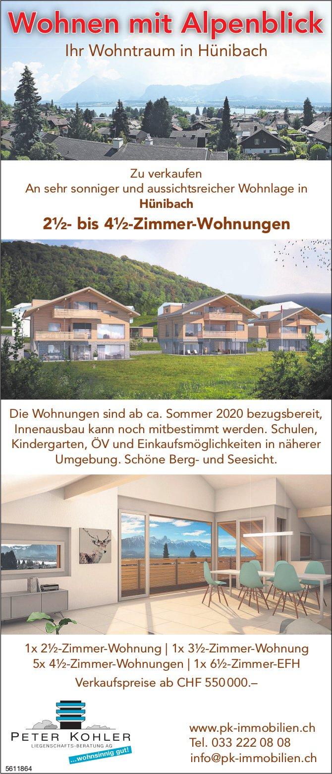 PETER KOHLER IMMOBILIEN - Wohnen mit Alpenblick: Ihr Wohntraum in Hünibach