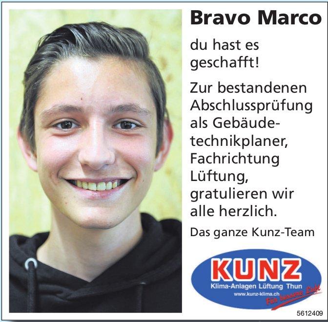 Bravo Marco du hast es geschafft!