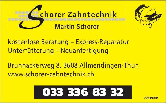 Schorer Zahntechnik - Kostenlose Beratung, Express-Reparatur, Unterfütterung, Neuanfertigung
