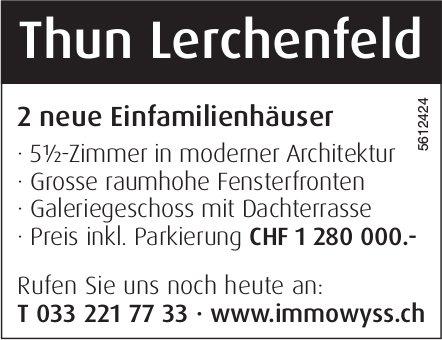 2 neue Einfamilienhäuser 5.5 Zimmer in Thun Lerchenfeld zu verkaufen