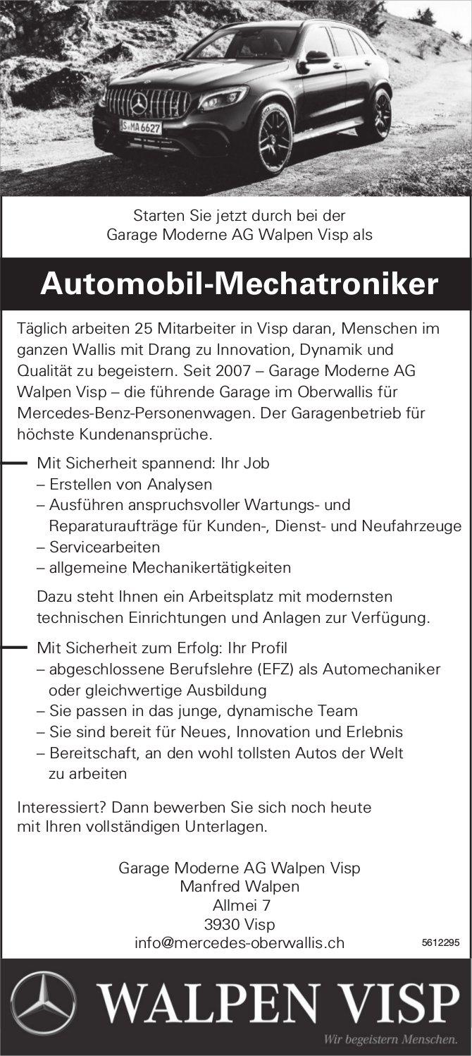 Automobil-Mechatroniker, Garage Moderne AG Walpen Visp, gesucht