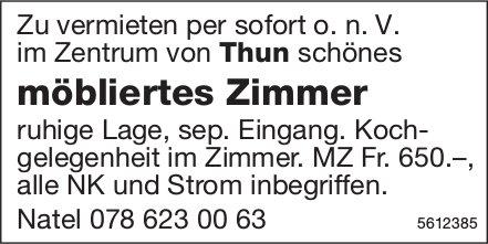 Möbliertes Zimmer im Zentrum von Thun zu vermieten