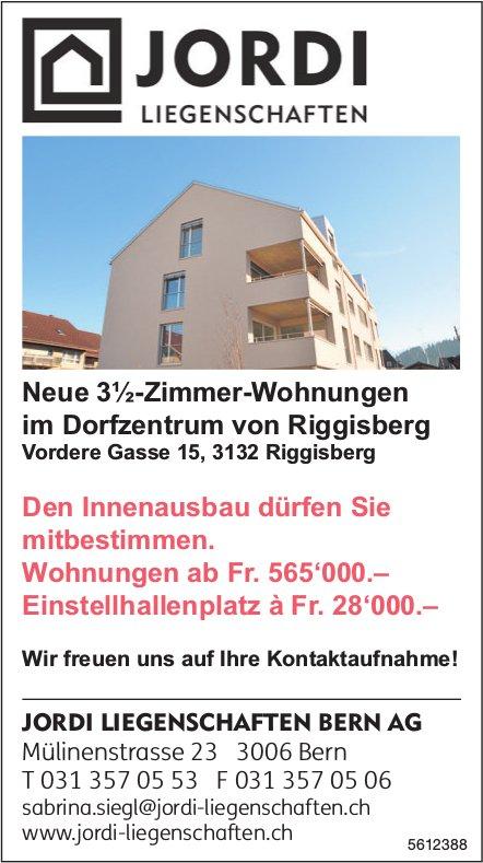 Neue 3½-Zimmer-Wohnungen im Dorfzentrum von Riggisberg zu verkaufen