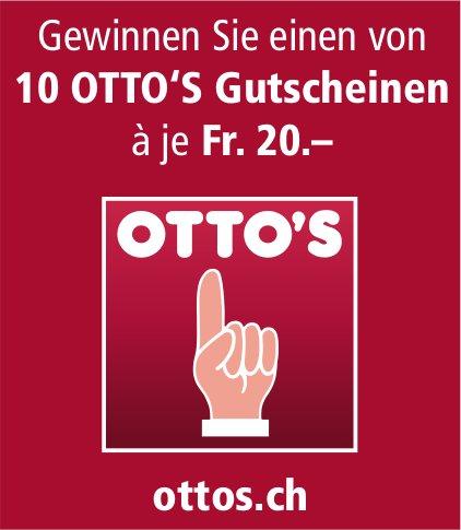 Gewinnen Sie einen von 10 OTTO'S Gutscheinen à je Fr. 20.–