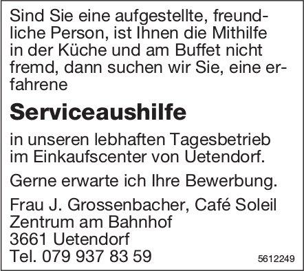 Serviceaushilfe, Café Soleil, Zentrum am Bahnhof, Uetendorf, gesucht
