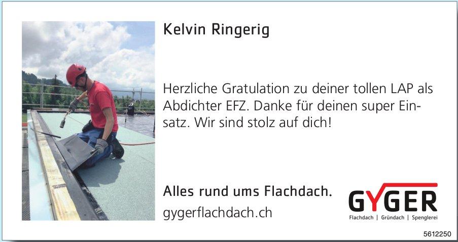Kelvin Ringerig - Herzliche Gratulation zu deiner tollen LAP als Abdichter EFZ