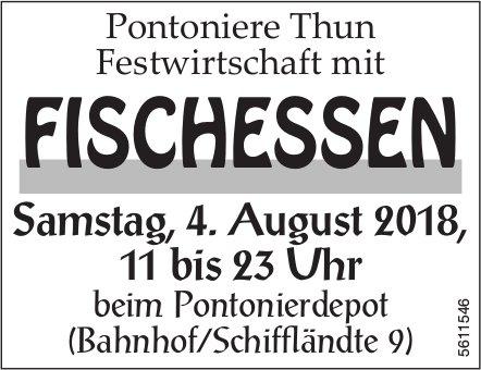 Pontoniere Thun Festwirtschaft mit FISCHESSEN am 4. August