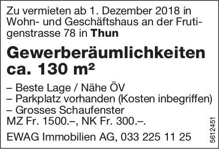 Gewerberäumlichkeiten ca. 130 m² in Thun zu vermieten