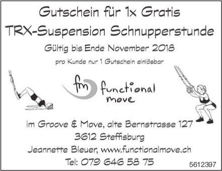 Gutschein für 1x Gratis TRX-Suspension Schnupperstunde, Steffisburg