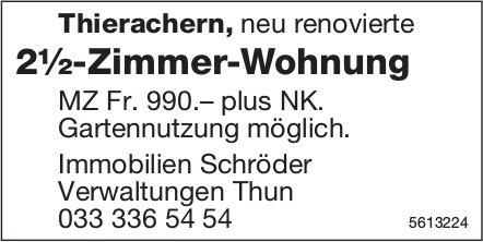 Neu renovierte 2½-Zimmer-Wohnung in Thierachern zu vermieten
