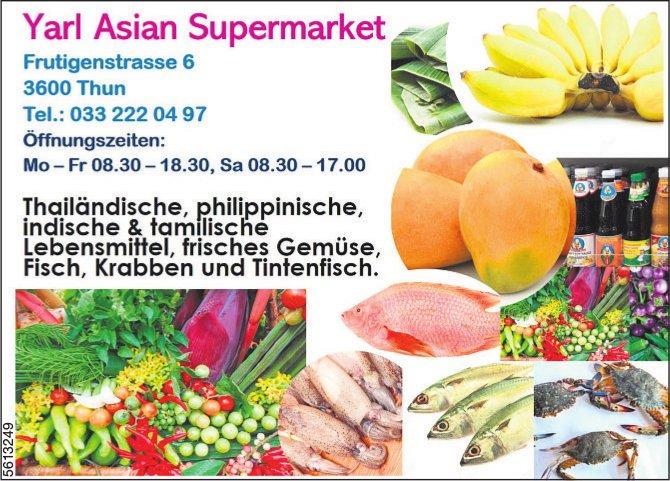 Yarl Asian Supermarket - Thailändische, philippinische, indische & tamflische Lebensmittel