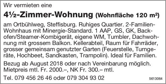 4½-Zimmer-Wohnung (Wohnfläche 120 m2) in Steffisburg zu vermieten