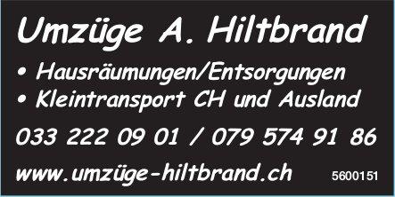 Umzüge A. Hiltbrand - Hausräumungen/Entsorgungen, KleintransportCHundAusland
