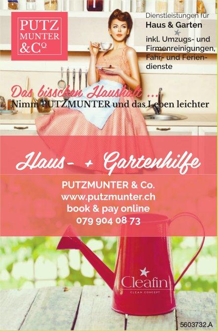 Putzmunter & Co. - Haus- + Gartenhilfe