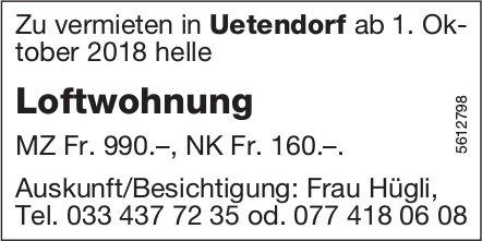 Loftwohnung in Uetendorf zu vermieten