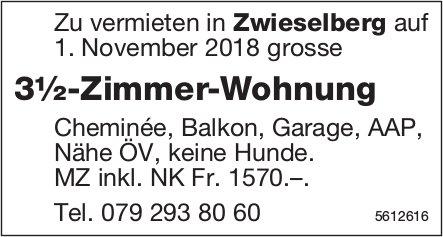 3½-Zimmer-Wohnung in Zwieselberg zu vermieten