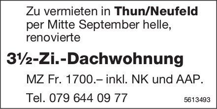 3½-Zi.-Dachwohnung in Thun/Neufeld zu vermieten