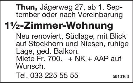 1½-Zimmer-Wohnung in Thun zu vermieten