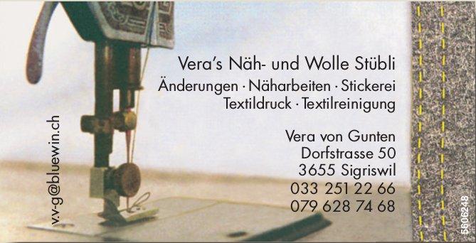 Vera's Näh- und Wolle Stübli - Änderungen, Näharbeiten, Stickerei, usw.