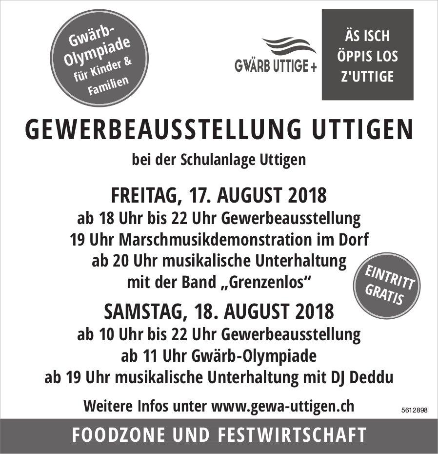 GEWERBEAUSSTELLUNG UTTIGEN AM 17. + 18. AUGUST