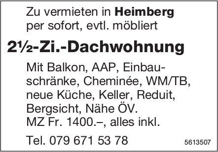 2½-Zi.-Dachwohnung in Heimberg zu vermieten