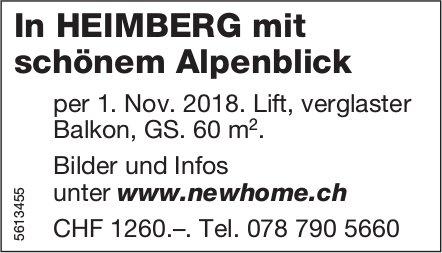 In HEIMBERG mit schönem Alpenblick. Bilder und Infos unter www.newhome.ch