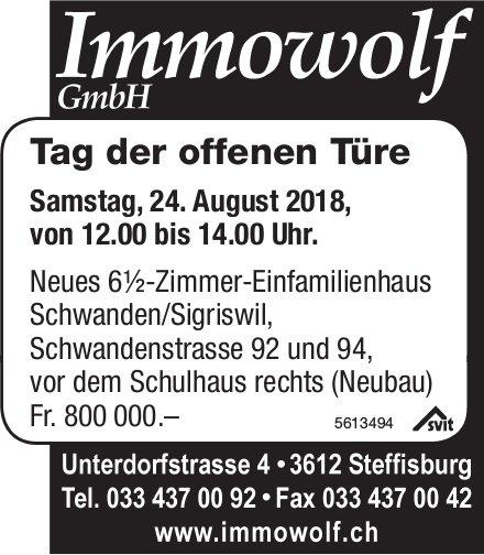 Tag der offenen Türe am 24. August: Neues 6½-Zimmer-Einfamilienhaus in Schwanden/Sigriswil