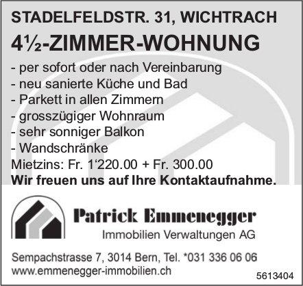 4½-Zimmer-Wohnung in Wichtrach zu vermieten