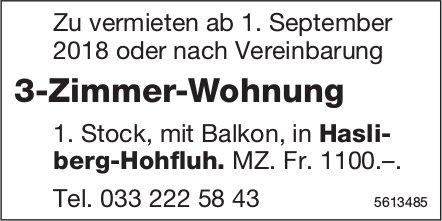 3-Zimmer-Wohnung in Hasliberg-Hohfluh zu vermieten