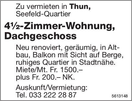 4½-Zimmer-Wohnung, Dachgeschoss in Thun, Seefeld-Quartier zu vermieten