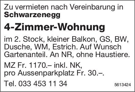 4-Zimmer-Wohnung in Schwarzenegg zu vermieten