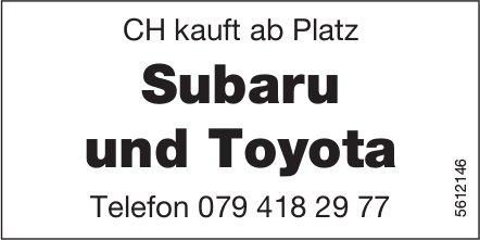 CH kauft ab Platz Subaru und Toyota