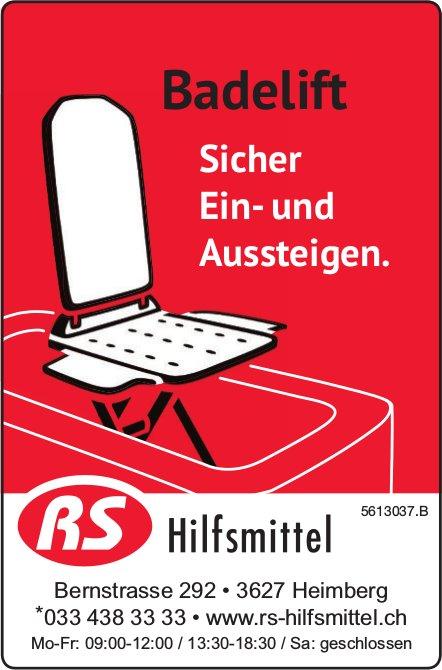 RS Hilfsmittel - Badelift: Sicher Ein- und Aussteigen.