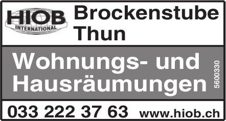 HIOB International, Brockenstube Thun - Wohnungs- und Hausräumungen