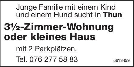 3½-Zimmer-Wohnung oder kleines Haus in Thun gesucht