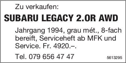 SUBARU LEGACY 2.OR AWD Jahrgang 1994 zu verkaufen