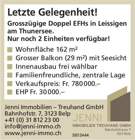 Letzte Gelegenheit! Grosszügige Doppel EFHs in Leissigen am Thunersee zu verkaufen