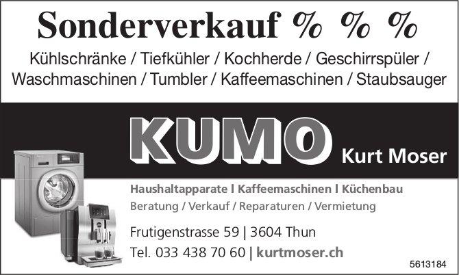 KUMO Kurt Moser, Thun - Sonderverkauf %%%