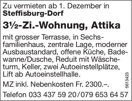3½-Zi.-Wohnung, Attika in Steffisburg-Dorf zu vermieten