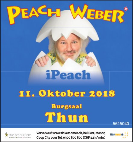 Peach Weber in Thun am 11. Oktober